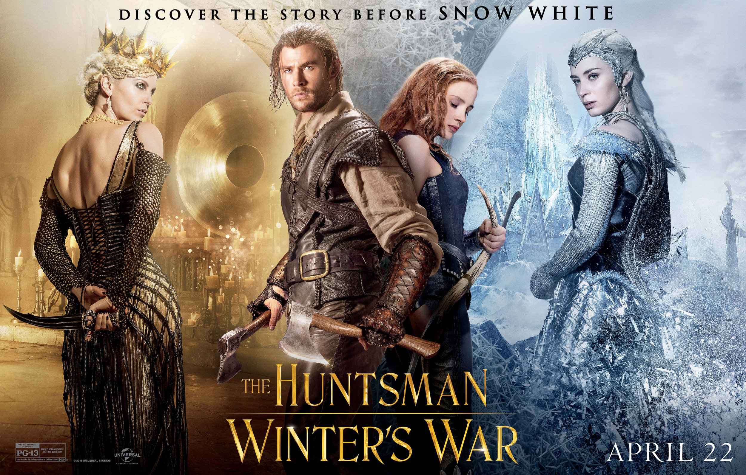 Coming Soon Trailers: The Huntsman-Winter's War, Elvis and Nixon, Tale of Tales